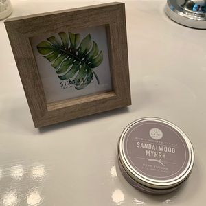 Other - Modern Picture Frame and Candle Set - NWT